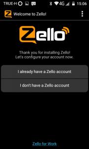 ลงทะเบียน Zello แท็กซี่ 01