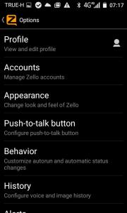 เปลียน Profile zello2